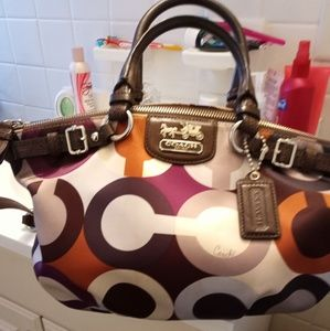 Coach shoulder bag with the strap